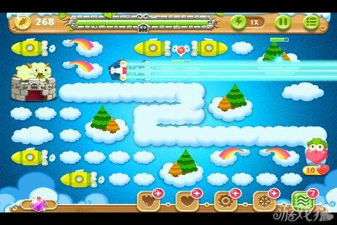 萝卜/利用3个飞机的火力清理掉大松树以后发现里面藏着4个冰锥,由于...