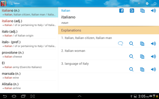 best italian english dictionary app