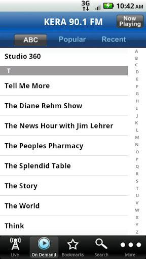 KERA Public Radio App截图2