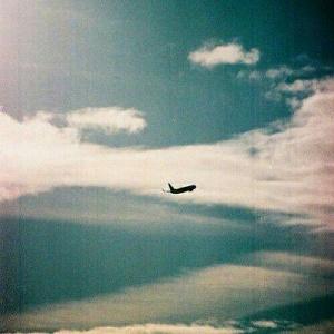 空中飞机风景头像