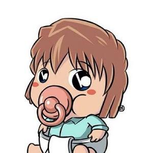 卡通婴儿奶嘴强迫症头像