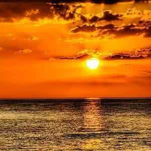 日出唯美风景头像