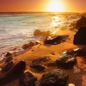 唯美海边风景头像