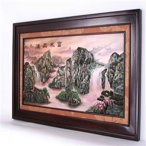 山水风景油画风景头像