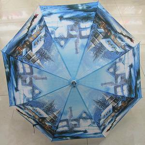 雨伞欧美画风景头像