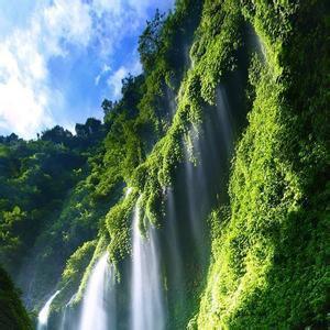 瀑布山风景头像-微信头像