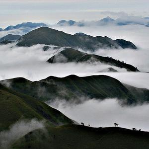 仙雾缭绕高山风景头像