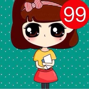 卡通女生带99强迫症微信头像图片