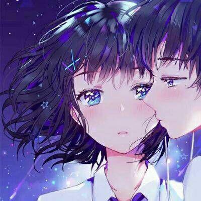 忧郁系列动漫情侣卡通微信头像20