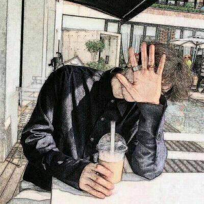 手绘超酷男生微信图像9(2018-06-20)