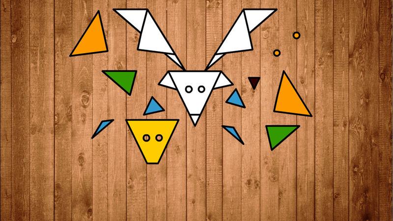 儿童游戏形状拼动物图片