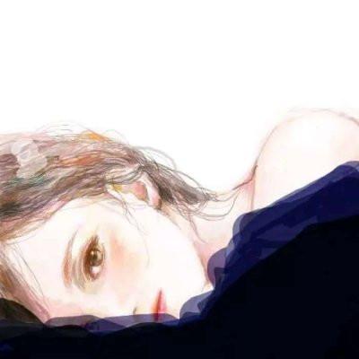 微信手绘头像女生简约气质14