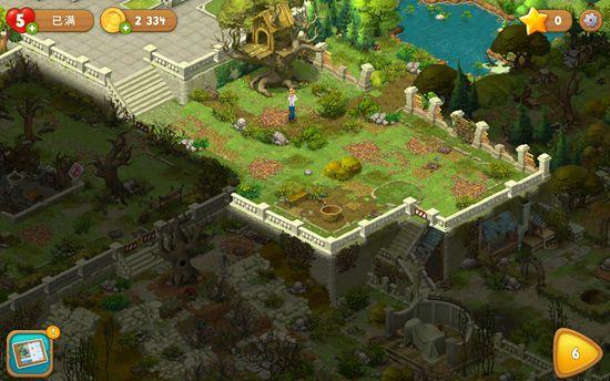 《梦幻花园》评测  随着消除挑战关卡的进行,我们完成花园一个区域的
