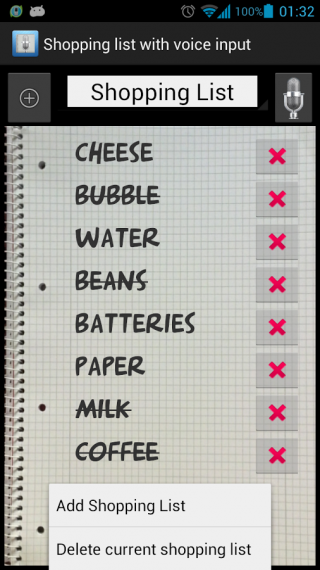 Shopping list voice input电脑版截图3