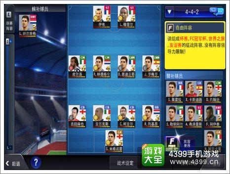 FC足球经理阵容