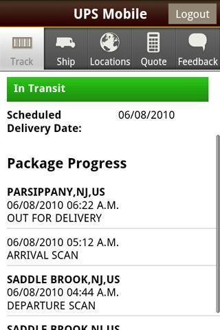 UPS手机客户端截图1