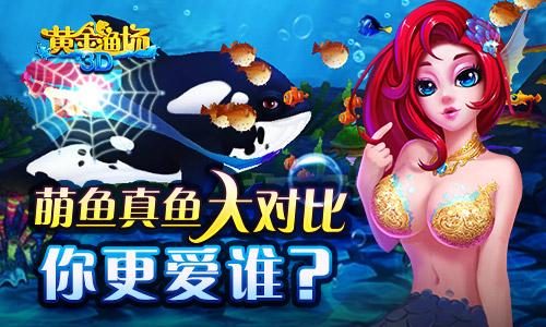 1《3D黄金渔场》萌鱼真鱼大对比 你更爱哪一款?