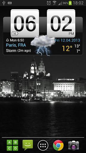 翻转时钟天气部件截图3
