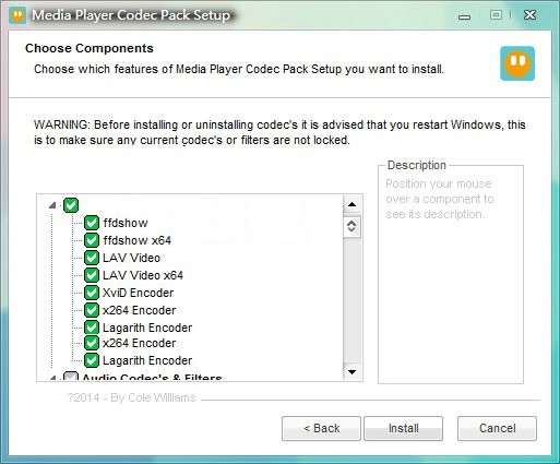 Media Player Codec Pack Plus截图1
