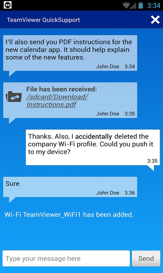 TeamViewer QuickSupport截图2