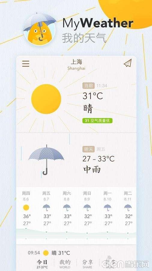 我的天气截图1
