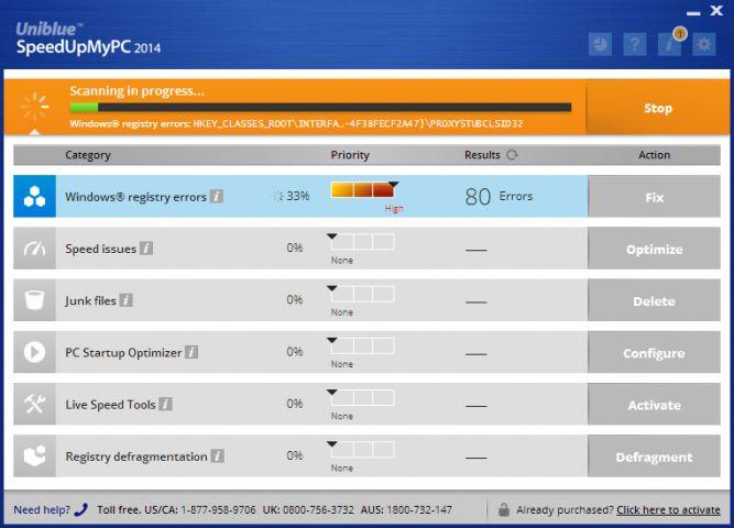 Uniblue SpeedUpMyPC 2013截图1