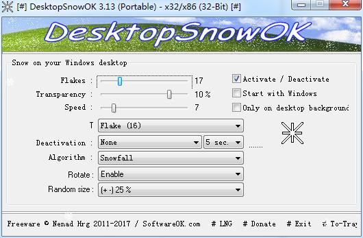 DesktopSnowOK截图1