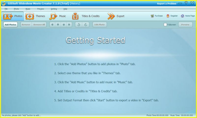GiliSoft Slideshow Movie Creator截图1