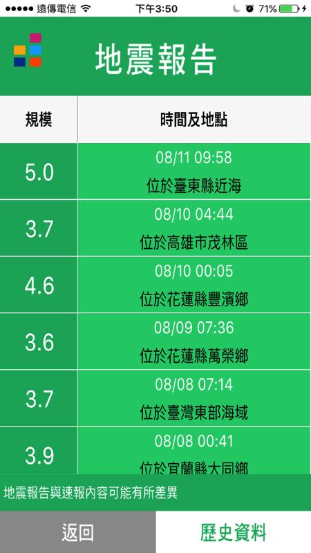 EEW 地震速報截图3