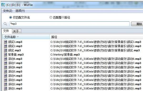 WizFile文件快速搜索工具截图3