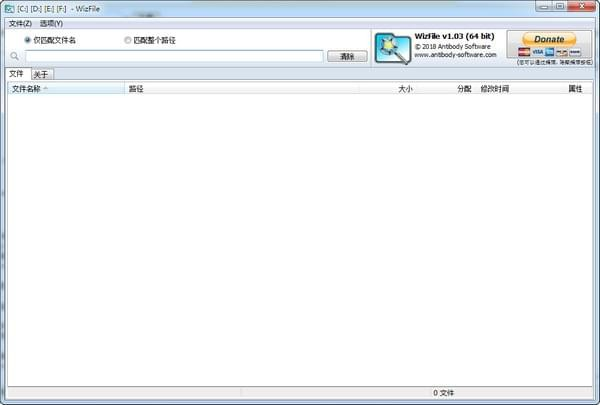 WizFile文件快速搜索工具截图1