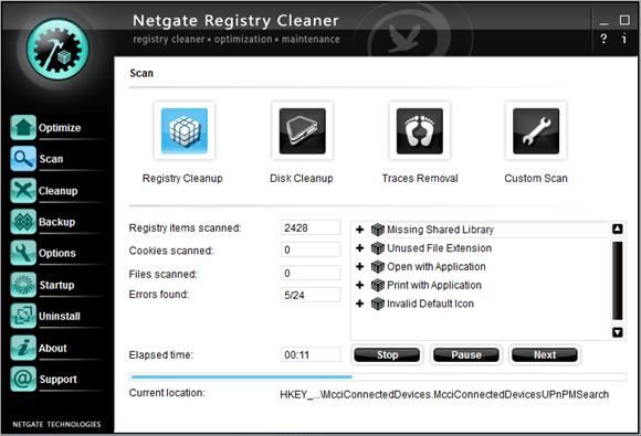 NETGATE Registry Cleaner注册表清理软件截图1