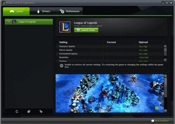 N卡驱动更新软件NVIDIA GeForce Experience截图1