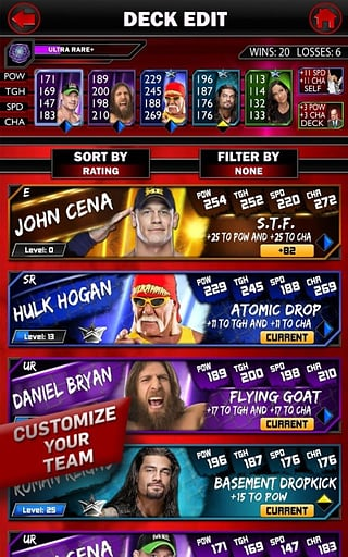 WWE SuperCard截图1