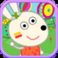 兔宝宝逛游乐园app icon图