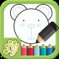 儿童涂鸦涂色画画板app icon图